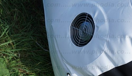 Système gonflage auto-ventilé par soufflerie